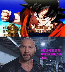 Son Goku Ready to Battle Against Batista!