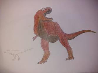 Dinovember day 28: TYRANNOSAURUS REX by Dromeothetroognathus