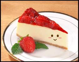 cute strawberry cheesecake by studentofdust