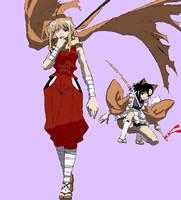 Kaede and Setsuna by studentofdust