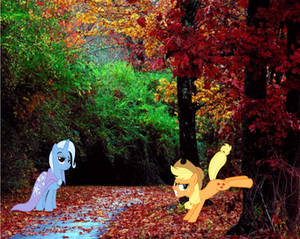 Trixie Is Not Impressed With Applejack's Bucking