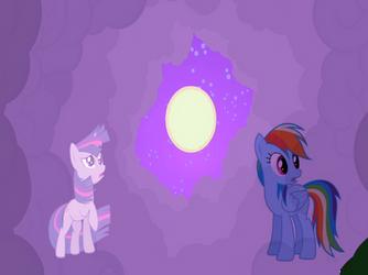 Rainbow Dash and Twilight for somethingrandom789 by studentofdust