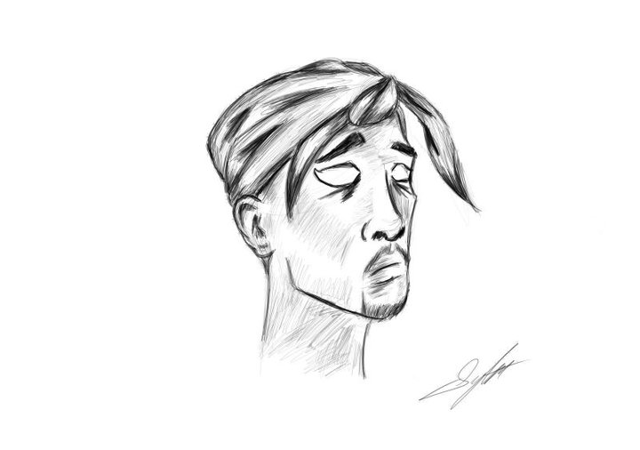 Tupac Fanart by SINGLETON930