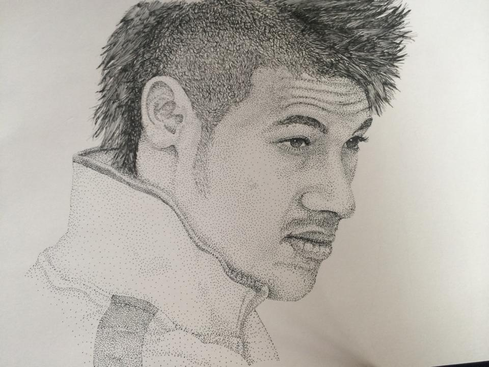 Neymar jr pointillism attempt by mrcollomosse