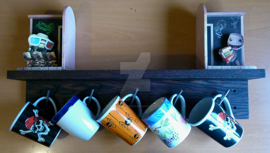 Mug Rack (staged) by LananteDesigns