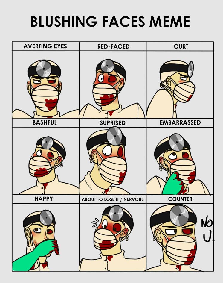 Blushing faces meme dr d by crimson firefox