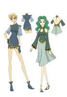 Kinmoku Fashion Uranus And Nep by akagi-chan