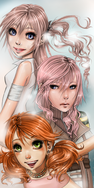 FFXIII Girls by kotlaska93