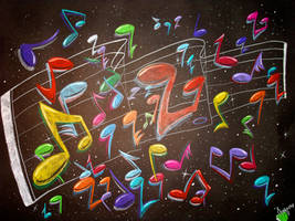 Prismacolor Music Notes by MillenniumArt2K