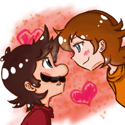 Mario x Daisy thing by Cherryberrybonbon