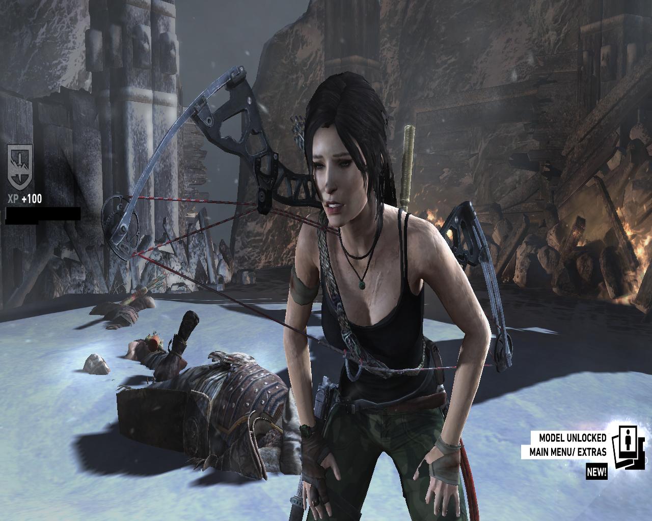Tomb Raider 2013 Underworld Jungle Shorts Grey Outfit Mod