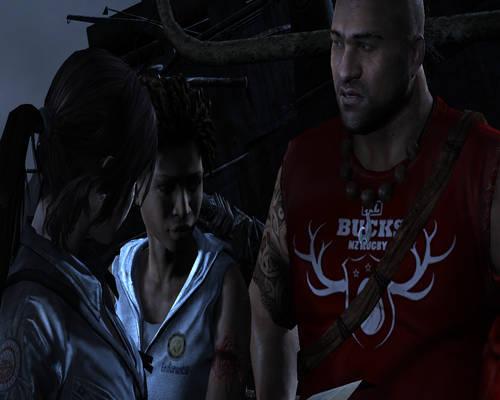 Tomb Raider 2013(Screenshot)-Lara,Reyes nJonah #14