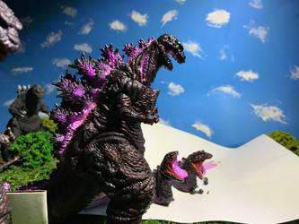 Neca Atomic shin Godzilla WIP by godzilla154