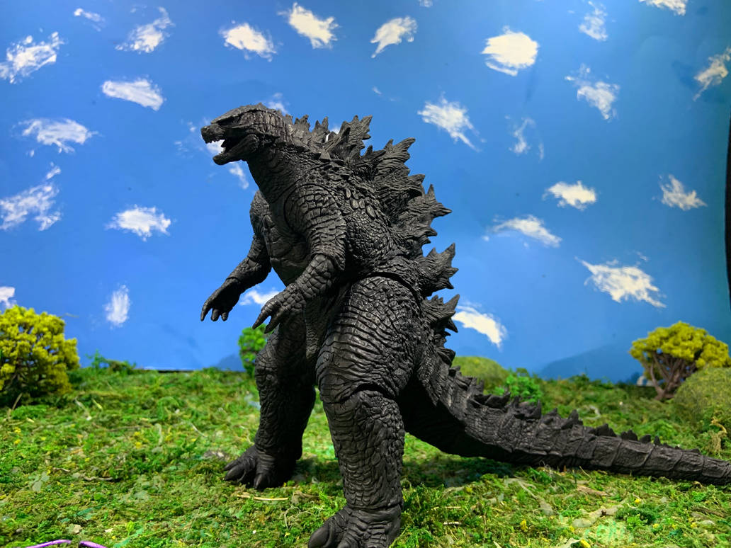 Neca Godzilla 2019 Repaint WIP 2 by godzilla154