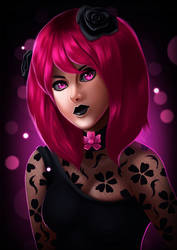 Cherry Blossom Portrait by ErgoAsch