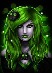 Toxic Rose Portrait by ErgoAsch