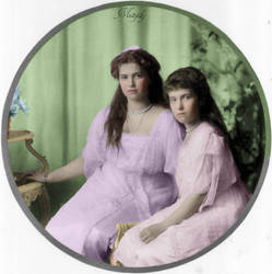 Grand Duchesses Maria and Anastasia by Maydy