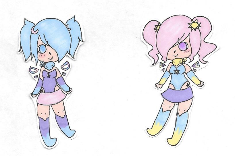 Luna and Aurora by Manison