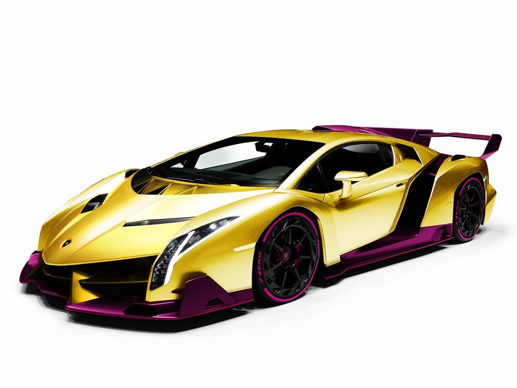 Lamborghini Gold veneno pictures