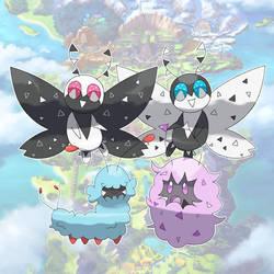 Nuzzy, Snugbug, and Peppow! (Fan Art)