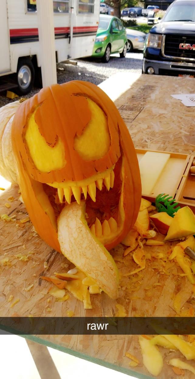 Venom Pumpkin By Borschtplz On Deviantart