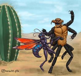 Insect Anthro Tarantula hawk wasp by borschtplz