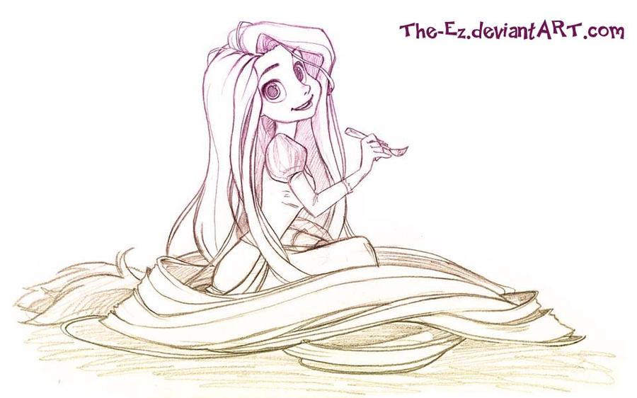 Rapunzel Fan Art - Ske...