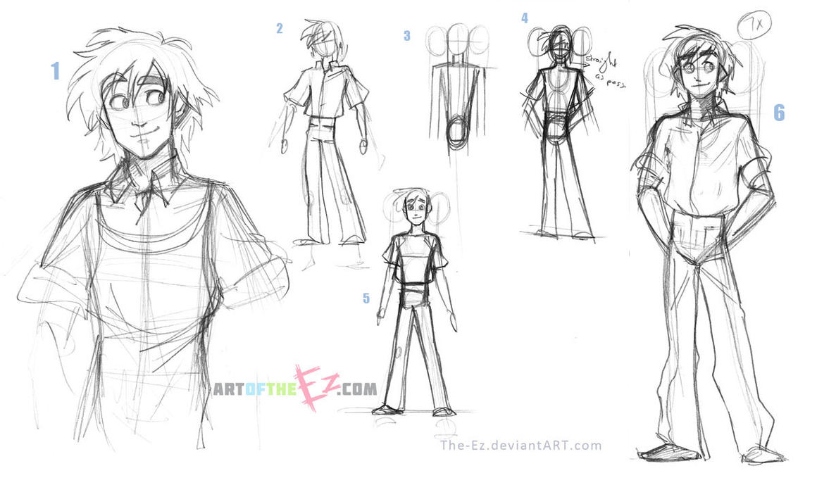 Theodore Development Sketches - DxF by The-Ez