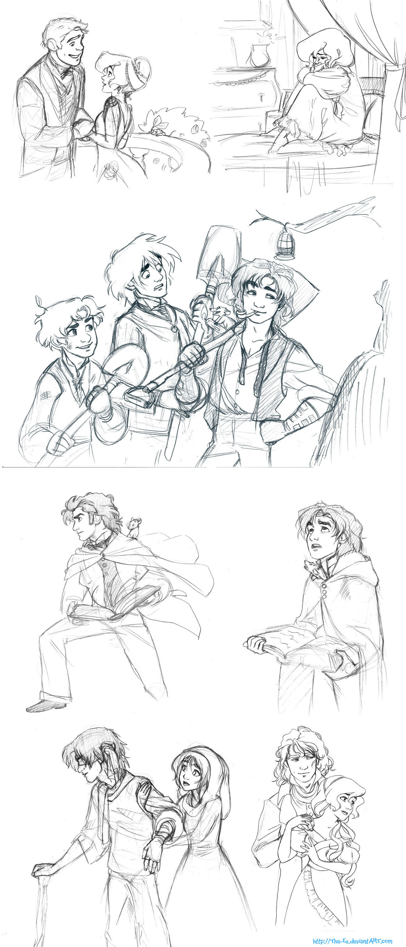 Story Sketches Dump by The-Ez