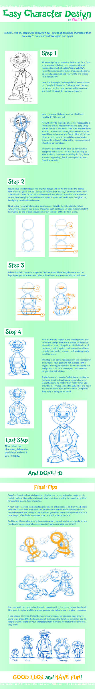 Tutorial For Character Design : Tutorial easy character design by the ez on deviantart