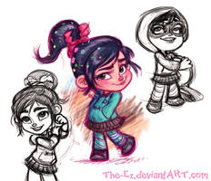 Vanellope Sketchies by The-Ez