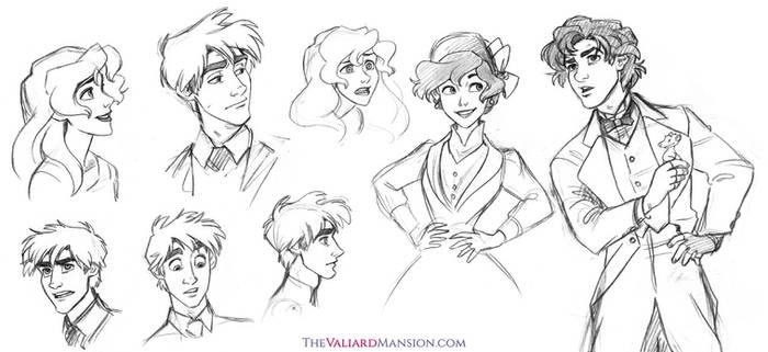 Valiard Main Cast Sketches - August 2015