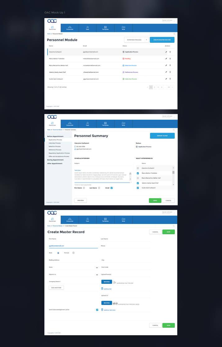 HR management system UI by mohsin on DeviantArt