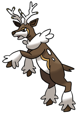 pokemon sawsbuck winter coloring pages - photo#17