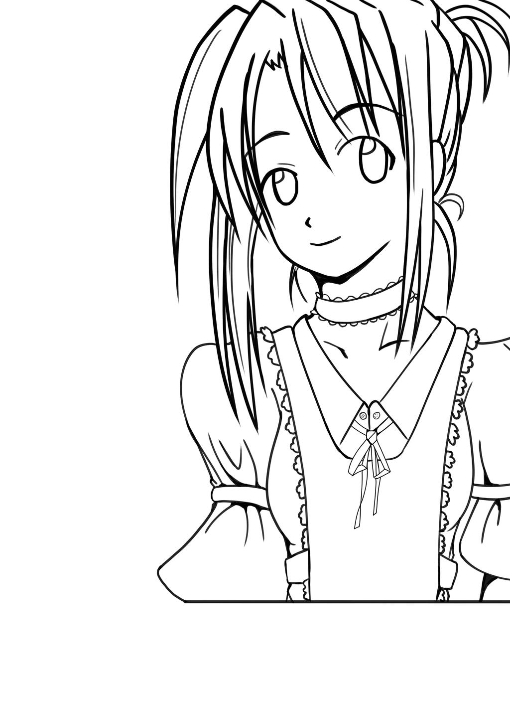 Line Art Practice : Practice line art naru from love hina by jamesrreiman on