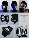 Striped Skull and Safetypin facemask