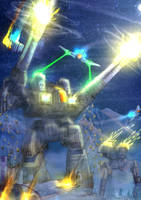Battletech - Rifleman at work