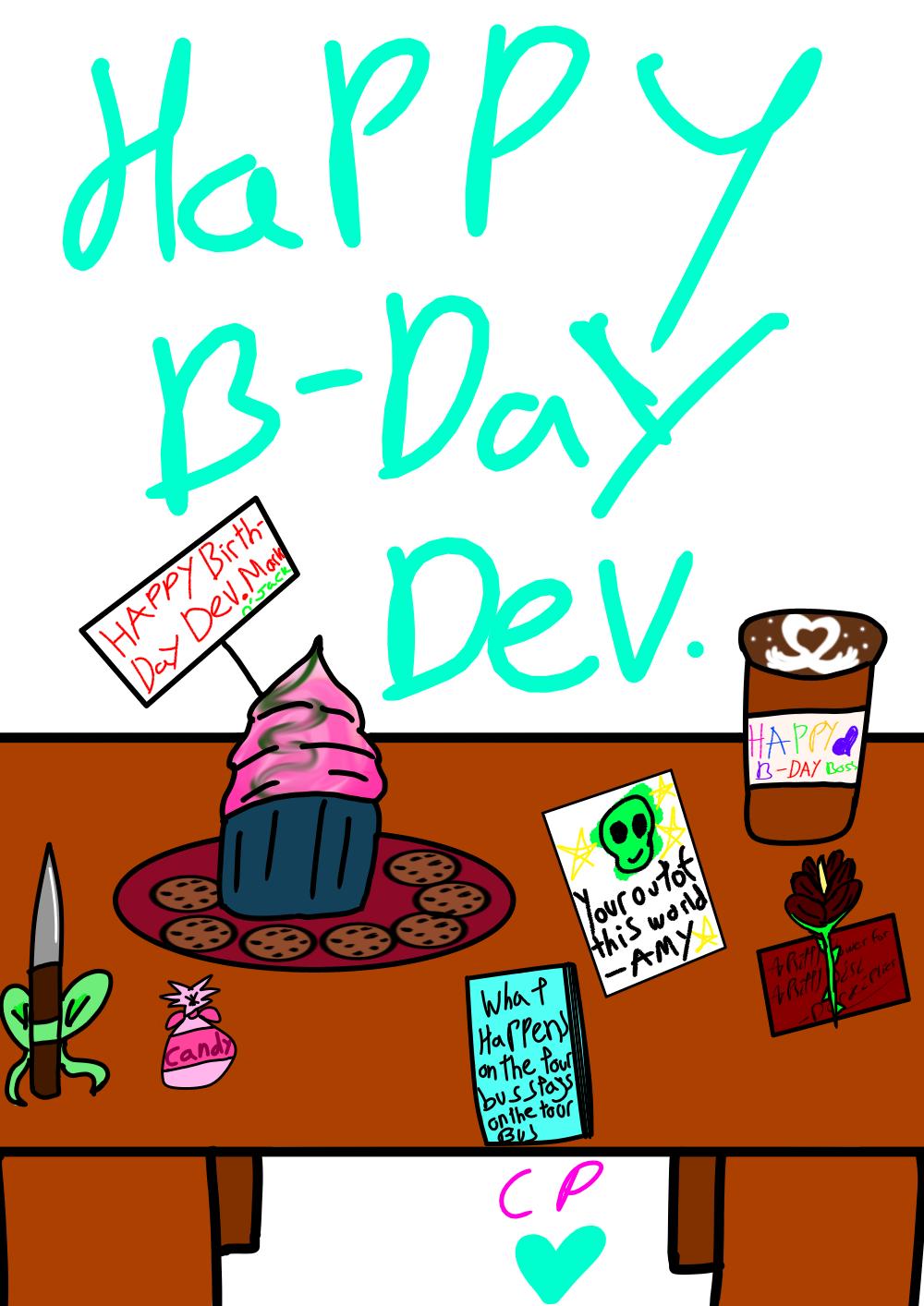Happy (late) BIRTHDAY BOSS! by Cutsiepi