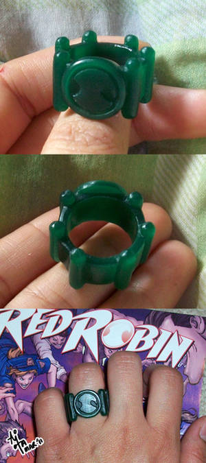 Red Robin ring - wax model
