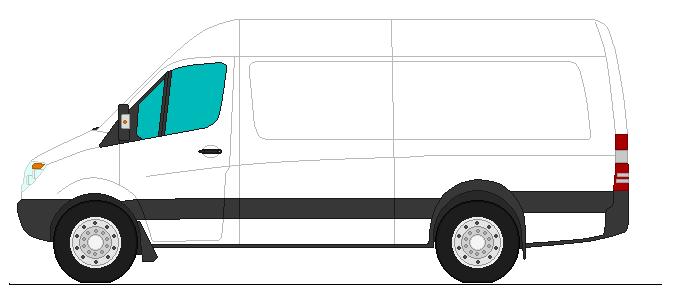 Dodge Sprinter  Artic White Paint Duplicolor