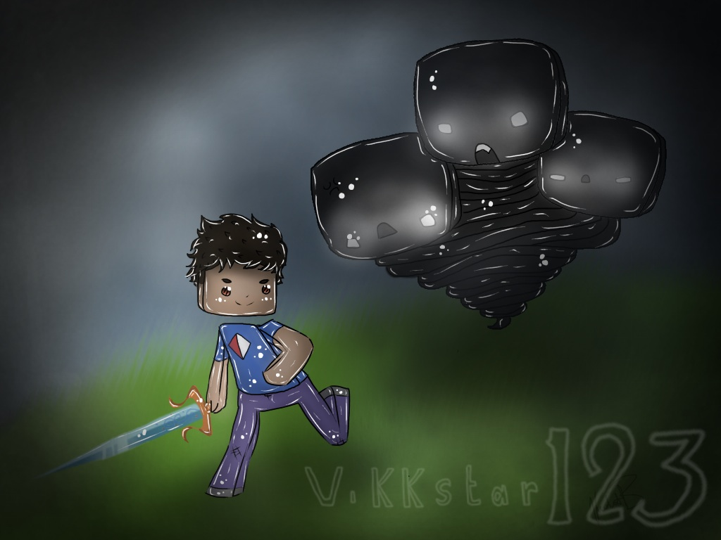 Vikkstar VS The Wither by DancinWaffle