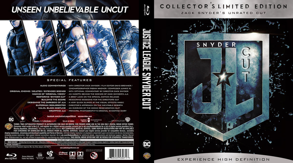 JLA Snyder Cut Blu-ray cover by childlogiclabs