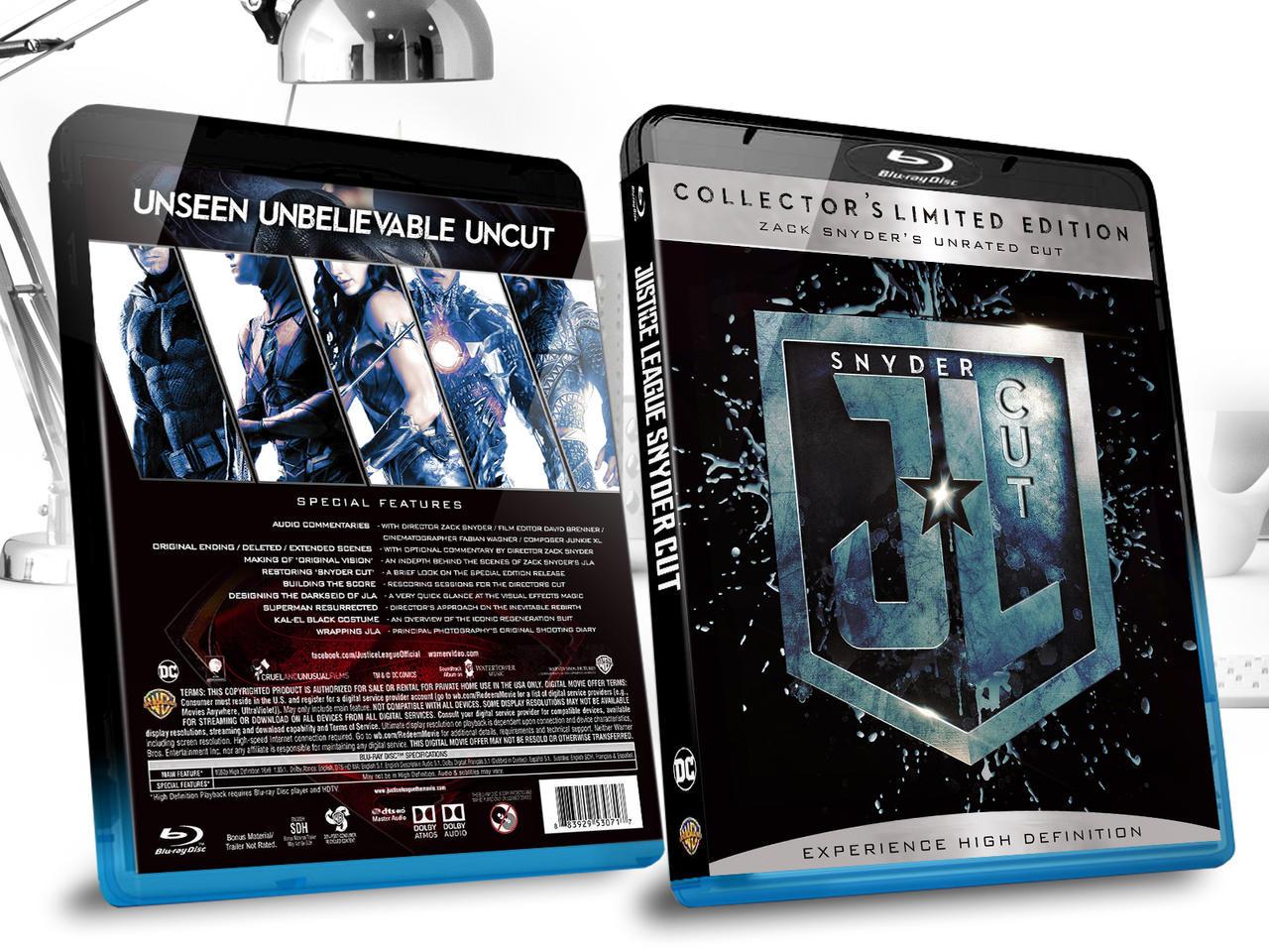 JL Snydercut Blu-ray by childlogiclabs