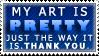 Pretty Art Stamp by Karmillina