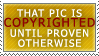 Copyrighted until proven STAMP by Karmillina