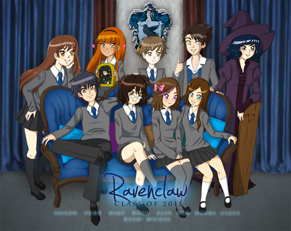 Anime Characters Hogwarts Houses : Ravenclaw class of by karmillina on deviantart