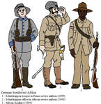 German colonial uniforms in Southwest Africa