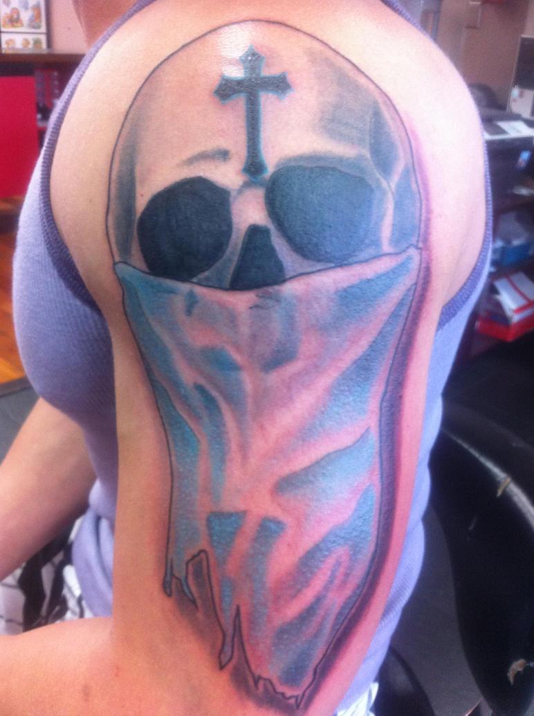 Skull With Bandana Tattoo Taboo Deviantart