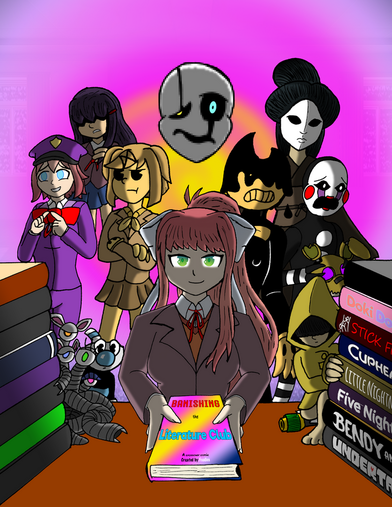 Banishing the Literature Club - Cover Page V1 by Foalies