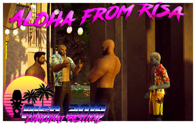 Aloha from Risa with DaddyKlingon by Salacnar